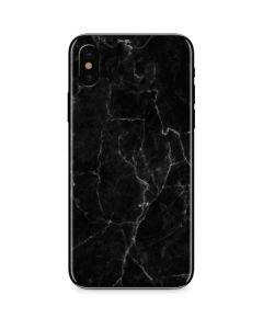 Black Marble iPhone X Skin