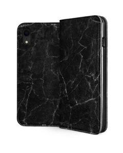 Black Marble iPhone XR Folio Case
