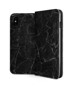 Black Marble iPhone XS Folio Case