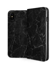 Black Marble iPhone XS Max Folio Case