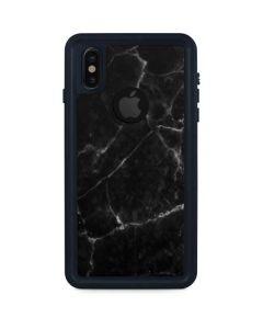 Black Marble iPhone XS Waterproof Case