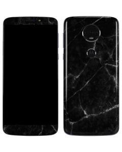 Black Marble Moto E5 Plus Skin