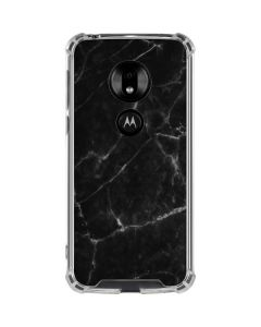 Black Marble Moto G7 Play Clear Case