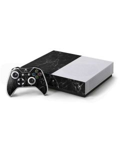 Black Marble Xbox One S Console and Controller Bundle Skin