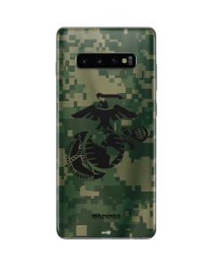 Black Marine Earth Eagle Galaxy S10 Plus Skin
