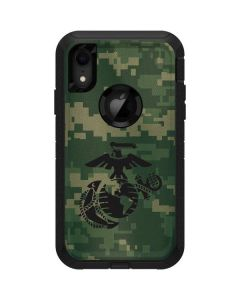 Black Marine Earth Eagle Otterbox Defender iPhone Skin