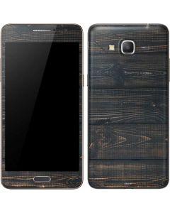 Black Painted Wood Galaxy Grand Prime Skin