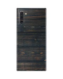 Black Painted Wood Galaxy Note 10 Skin