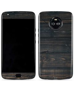 Black Painted Wood Moto X4 Skin