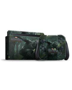 Black Panther In Action Nintendo Switch Bundle Skin