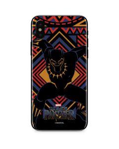 Black Panther Tribal Print iPhone X Skin