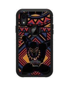 Black Panther Tribal Print Otterbox Defender iPhone Skin