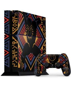 Black Panther Tribal Print PS4 Console and Controller Bundle Skin