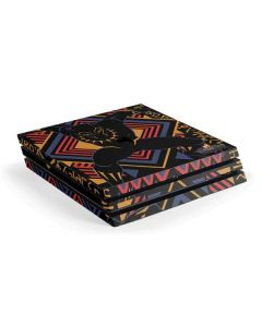 Black Panther Tribal Print PS4 Pro Console Skin