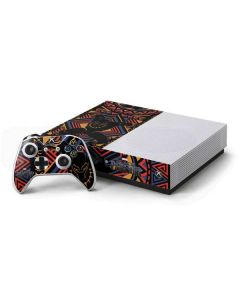 Black Panther Tribal Print Xbox One S Console and Controller Bundle Skin