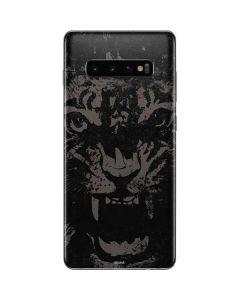 Black Tiger Galaxy S10 Plus Skin