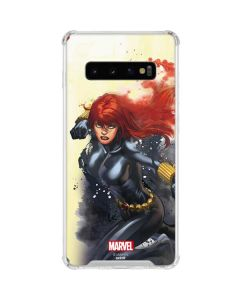 Black Widow in Action Galaxy S10 Clear Case