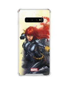 Black Widow in Action Galaxy S10 Plus Clear Case