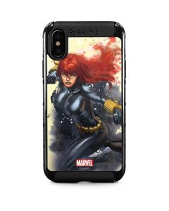 Black Widow in Action iPhone XS Cargo Case