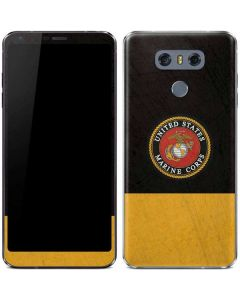 Black Yellow US Marine Corps LG G6 Skin