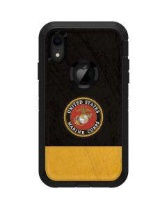 Black Yellow US Marine Corps Otterbox Defender iPhone Skin