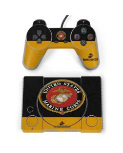 Black Yellow US Marine Corps PlayStation Classic Bundle Skin