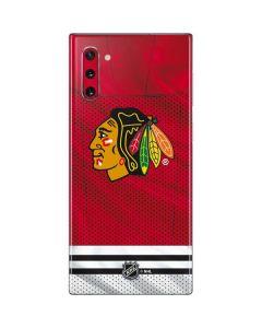 Blackhawks Red Stripes Galaxy Note 10 Skin