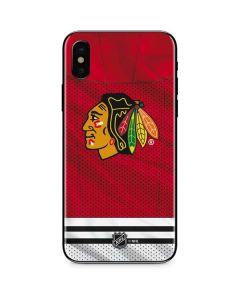 Blackhawks Red Stripes iPhone XS Skin