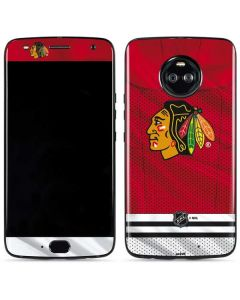 Blackhawks Red Stripes Moto X4 Skin