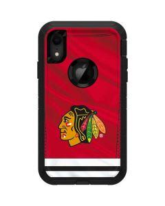 Blackhawks Red Stripes Otterbox Defender iPhone Skin