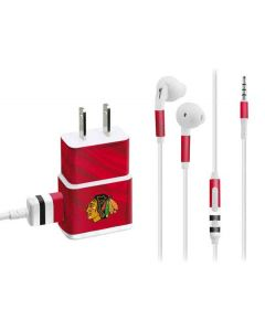 Blackhawks Red Stripes Phone Charger Skin