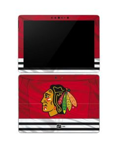 Blackhawks Red Stripes Surface Go Skin