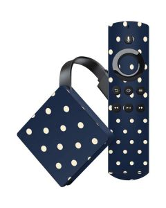 Blue and Cream Polka Dots Amazon Fire TV Skin