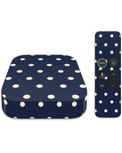 Blue and Cream Polka Dots Apple TV Skin