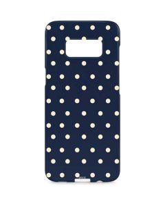 Blue and Cream Polka Dots Galaxy S8 Plus Lite Case
