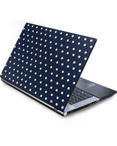 Blue and Cream Polka Dots Generic Laptop Skin