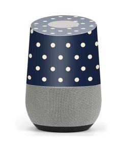 Blue and Cream Polka Dots Google Home Skin
