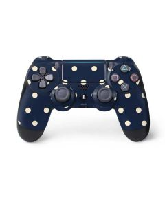 Blue and Cream Polka Dots PS4 Pro/Slim Controller Skin