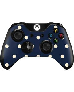 Blue and Cream Polka Dots Xbox One Controller Skin