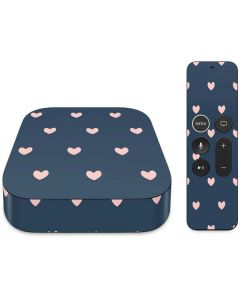 Blue and Pink Hearts Apple TV Skin