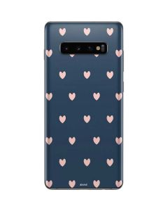 Blue and Pink Hearts Galaxy S10 Plus Skin