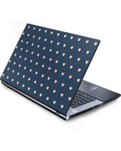 Blue and Pink Hearts Generic Laptop Skin