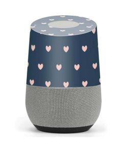 Blue and Pink Hearts Google Home Skin