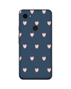 Blue and Pink Hearts Google Pixel 3a Skin