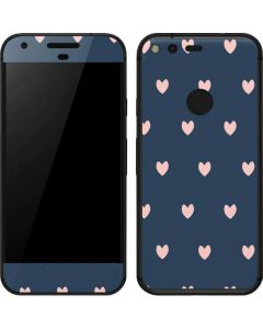 Blue and Pink Hearts Google Pixel Skin