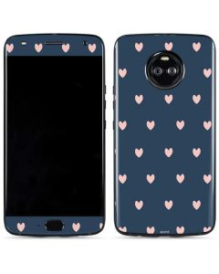 Blue and Pink Hearts Moto X4 Skin