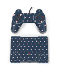 Blue and Pink Hearts PlayStation Classic Bundle Skin