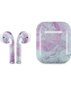 Blue and Purple Marble Apple AirPods Skin