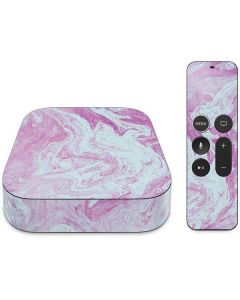 Blue and Purple Marble Apple TV Skin