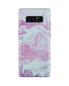 Blue and Purple Marble Galaxy Note 8 Skin